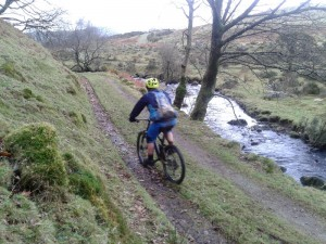 Matty on the Pant-y-llan trail.